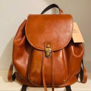 Patricia Nash Casape Backpack Veg Tan Leather Bag
